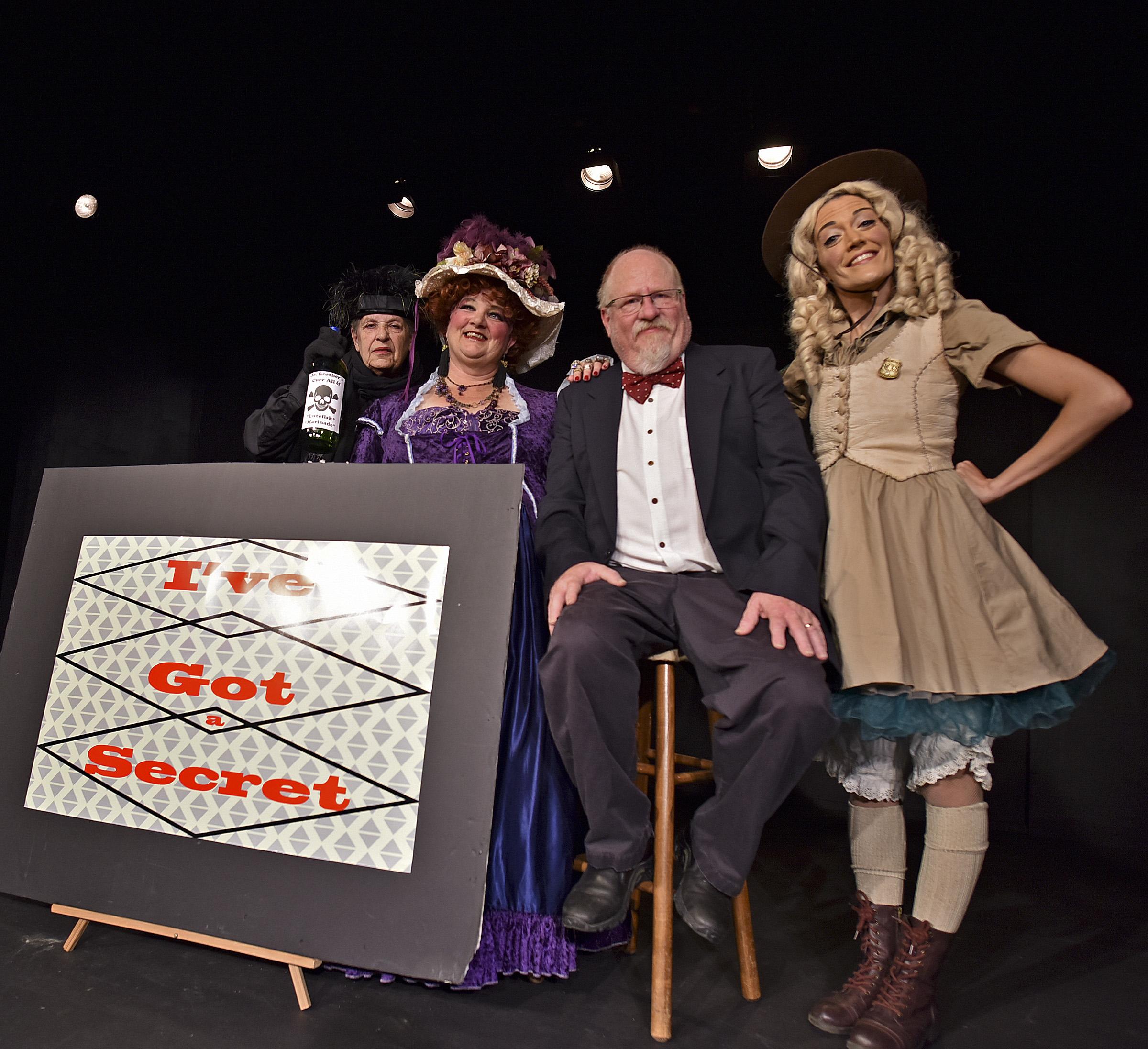 Ethel Krooke, Miss Macie, Michael Desmond and the Park Ranger