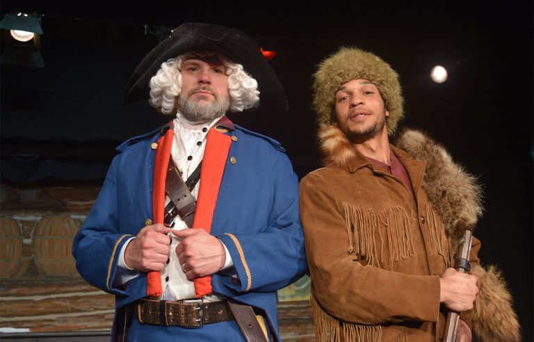 Todd Williams as Meriwether Lewis and Julien Thomas as William Clark